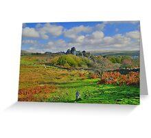 Dartmoor: Heading to Vixen Tor Greeting Card