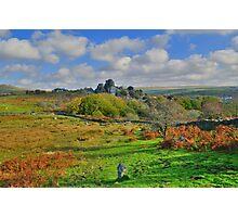 Dartmoor: Heading to Vixen Tor Photographic Print