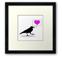 Caw, love! Framed Print