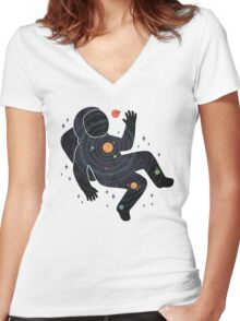 Inner Space Women's Fitted V-Neck T-Shirt