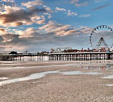Sunset over South Pier by Lilian Marshall