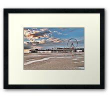 Sunset over South Pier Framed Print