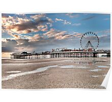 Sunset over South Pier Poster