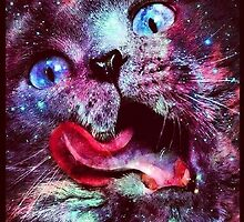 Cat in space 10 by artkid