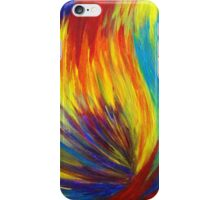 RAINBOW EXPLOSION - Vibrant Smile Happy Colorful Red Bright Blue Sunshine Yellow Abstract Painting  iPhone Case/Skin