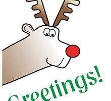 Cartoon Rudolph Reindeer Greetings! by Swedos-Artistic