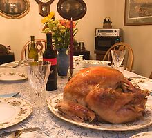 Thanksgiving ...the Big Bird Awaits! by Gene Walls