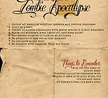 Zombie Apocalypse House Rules Redux Distressed by Charlotte Poe