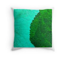 Abstract ice & leaf Throw Pillow