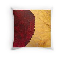 Abstract ice & leaf 2 Throw Pillow