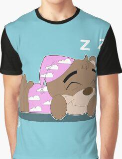 Sleepy Teddy Graphic T-Shirt