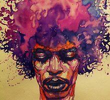 Jimi Hendrix fan art by artkid