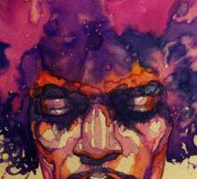 Jimi Hendrix fan art Sticker