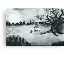 GIRL IN FIELD 3 Canvas Print