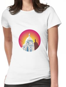 Catholic Church Dome Circle WPA Womens Fitted T-Shirt