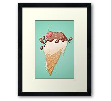 Icecream Yum! Framed Print