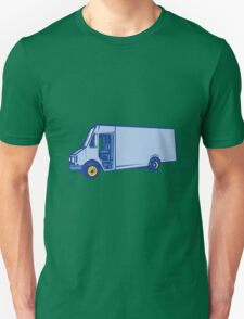 Delivery Van Side Woodcut T-Shirt