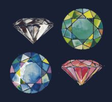 Watercolor Diamonds – April Birthstone Kids Clothes
