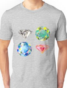 Watercolor Diamonds – April Birthstone Unisex T-Shirt
