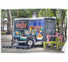 Food Van at Arawak Cay in Nassau, The Bahamas Poster