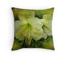White Amaryllis - Belladonna Lily Throw Pillow
