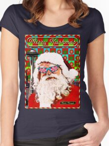 Merry Kushmas Card - T shirt Women's Fitted Scoop T-Shirt