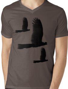 Black Cockatoos Mens V-Neck T-Shirt