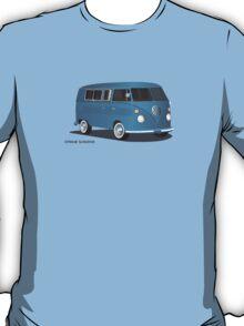 21 Window VW Bus Transporter Blue T-Shirt