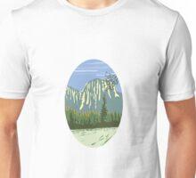 El Capitan Granite Monolith Oval WPA Unisex T-Shirt