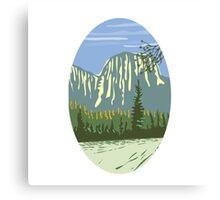 El Capitan Granite Monolith Oval WPA Canvas Print