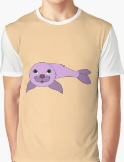 Light Purple Baby Seal Graphic T-Shirt