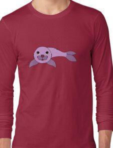 Light Purple Baby Seal Long Sleeve T-Shirt