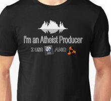"""Atheist Producer (Black) - """"I use Logic and Reason"""" Unisex T-Shirt"""