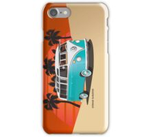 21 Window VW Bus Teal in Desert iPhone Case/Skin