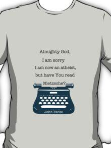 John Fante's typewriter T-Shirt
