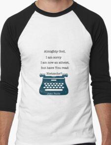 John Fante's typewriter Men's Baseball ¾ T-Shirt