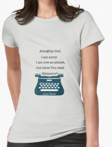 John Fante's typewriter Womens Fitted T-Shirt