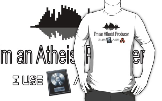 "Atheist Producer (White) - ""I use Logic and Reason"" by Pegasi Designs"