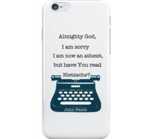 John Fante's typewriter iPhone Case/Skin