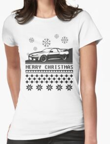 Merry Christmas r34 w/o tree Womens Fitted T-Shirt