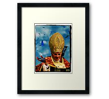 Man in a daft hat Framed Print