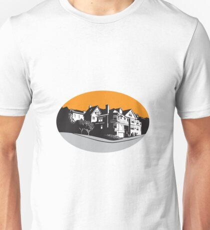American Mansion House Oval WPA Unisex T-Shirt