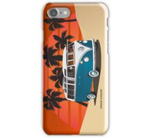 21 Window VW Bus Tuerkis in Desert iPhone Case/Skin