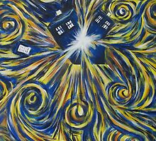 Tardis in Time Wortex Explosion by mina-wolff