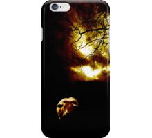 Cow in the storm iPhone Case/Skin