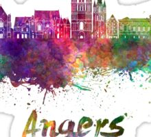 Angers skyline in watercolor Sticker