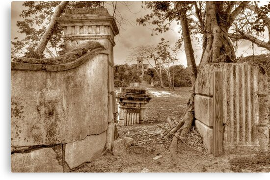 Historical Ruins on West Bay Street in Nassau, The Bahamas by Jeremy Lavender Photography