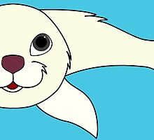 White Baby Seal by Grifynne