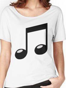 black music note Women's Relaxed Fit T-Shirt