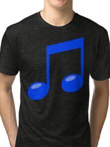 blue musical note Tri-blend T-Shirt